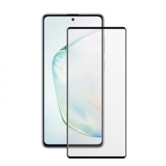"""Juodas apsauginis grūdintas stiklas Samsung Galaxy N770 Note 10 Lite / A81 telefonui """"MyScreen Lite Edge Full Glue"""""""