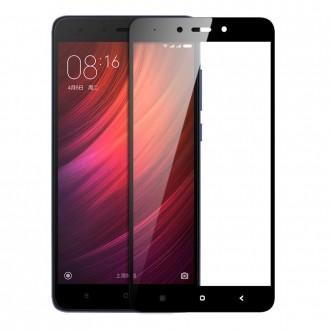 """Juodas apsauginis stikliukas """"5D Full Glue"""" Xiaomi Redmi Note 4 / Note 4X telefonui"""
