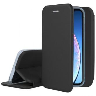 """Juodas atverčiamas dėklas """"Book Elegance"""" telefonui Huawei P10"""