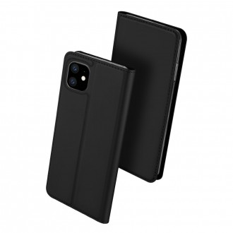"""Juodas atverčiamas dėklas Apple iPhone 11 telefonui """"Dux Ducis Skin"""""""