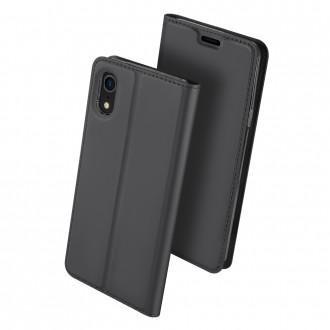 """Juodas atverčiamas dėklas Apple iPhone XR telefonui """"Dux Ducis Skin"""""""