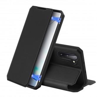 Juodas atverčiamas dėklas Dux Ducis Skin X Samsung Galaxy N970 Note 10 telefonui