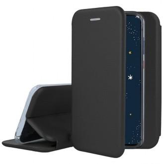 """Juodas atverčiamas dėklas Huawei P30 Lite telefonui """"Book Elegance"""""""