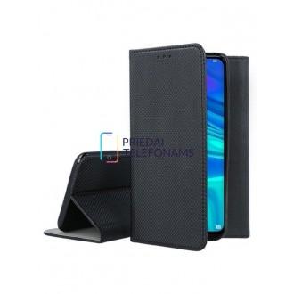 """Juodas atverčiamas dėklas Huawei P Smart 2019 / Honor 10 Lite telefonui """"Smart Magnet"""""""