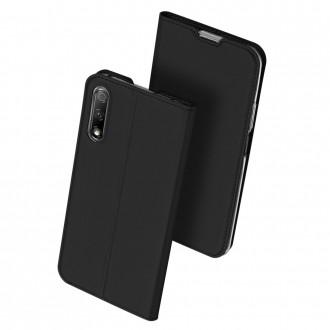 """Juodas atverčiamas dėklas Huawei P Smart Pro 2019 / Y9s telefonui """"Dux Ducis Skin"""""""