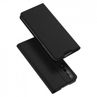 """Juodas atverčiamas dėklas Huawei P Smart S / Y8P telefonui """"Dux Ducis Skin"""""""
