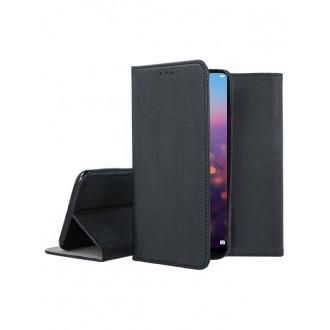 """Juodas atverčiamas dėklas Huawei P20 Pro / P20 Plus telefonui """"Smart Magnet"""""""