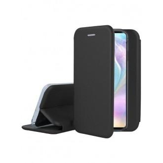 """Juodas atverčiamas dėklas Huawei P30 telefonui """"Book Elegance"""""""