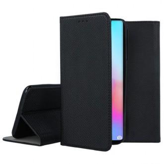 """Juodas atverčiamas dėklas Huawei P40 Pro telefonui """"Smart Magnet"""""""