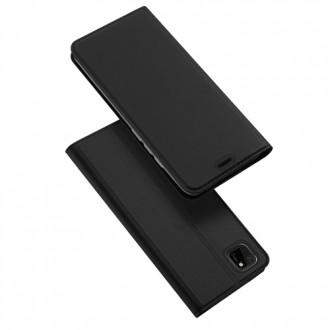 """Juodas atverčiamas dėklas Huawei Y5P / Honor 9S telefonui """"Dux Ducis Skin"""""""