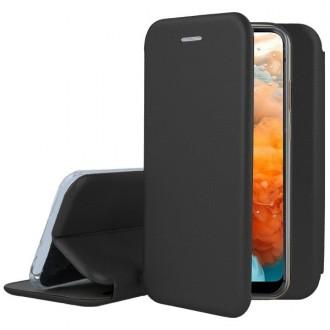 """Juodas atverčiamas dėklas Huawei Y6 2019 / Y6 Pro 2019 telefonui """"Book Elegance"""""""