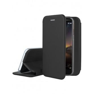 """Juodas atverčiamas dėklas Nokia 6.1 / 6 2018 telefonui """"Book Elegance"""""""