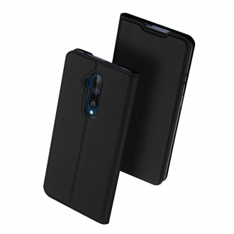 """Juodas atverčiamas dėklas OnePlus 7T Pro telefonui """"Dux Ducis Skin"""""""
