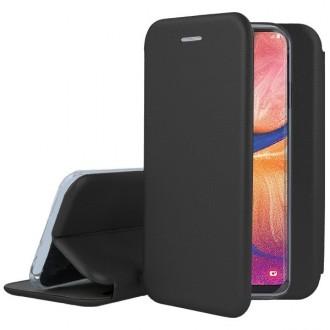 """Juodas atverčiamas dėklas Samsung Galaxy A105 A10 telefonui """"Book Elegance"""""""