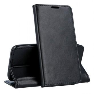 """Juodas atverčiamas dėklas Samsung Galaxy A105 A10 telefonui """"Magnetic book"""""""