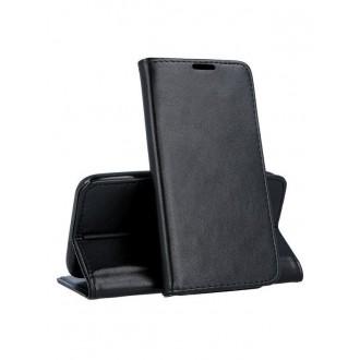"""Juodas atverčiamas dėklas Samsung Galaxy A202 A20e telefonui """"Magnetic book"""""""