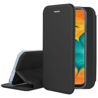 """Juodas atverčiamas dėklas Samsung Galaxy A205 A20 / A305 A30 telefonui """"Book Elegance"""""""