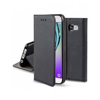 """Juodas atverčiamas dėklas Samsung Galaxy A310 A3 2016 telefonui """"Smart Book Magnet"""""""