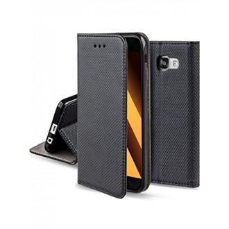 """Juodas atverčiamas dėklas Samsung Galaxy A320 A3 2017 telefonui """"Smart Magnet"""""""