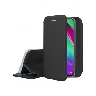 """Juodas atverčiamas dėklas Samsung Galaxy A405 A40 telefonui """"Book Elegance"""""""