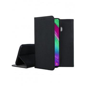 """Juodas atverčiamas dėklas Samsung Galaxy A405 A40 telefonui """"Smart Magnet"""""""