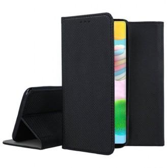 """Juodas atverčiamas dėklas Samsung Galaxy A41 telefonui """"Smart Magnet"""""""
