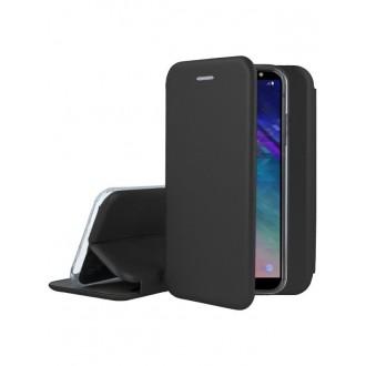 """Juodas atverčiamas dėklas Samsung Galaxy A600 A6 2018 telefonui """"Book Elegance"""""""