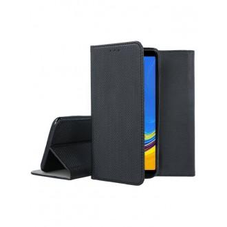 """Juodas atverčiamas dėklas Samsung Galaxy A7 2018 telefonui """"Smart Magnet"""""""