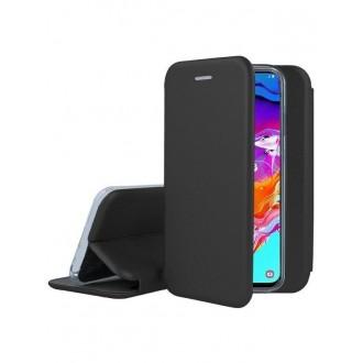 """Juodas atverčiamas dėklas Samsung Galaxy A705 A70 telefonui """"Book Elegance"""""""