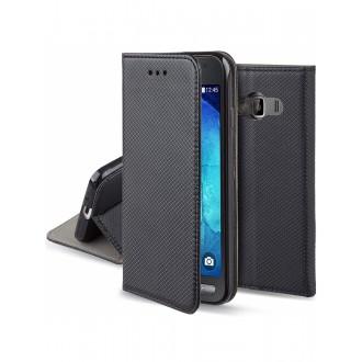 """Juodas atverčiamas dėklas Samsung Galaxy G388 Xcover 3 telefonui """"Smart Magnet"""""""