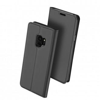 """Juodas atverčiamas dėklas Samsung Galaxy G960 S9 telefonui """"Dux Ducis Skin"""""""