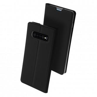 """Juodas atverčiamas dėklas Samsung Galaxy G973 S10 telefonui """"Dux Ducis Skin"""""""
