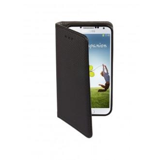 """Juodas atverčiamas dėklas Samsung Galaxy i9500 / i9505 S4 telefonui """"Smart Magnet"""""""
