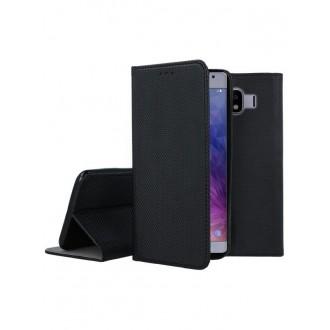 """Juodas atverčiamas dėklas Samsung Galaxy J400 J4 2018 telefonui """"Smart Magnet"""""""
