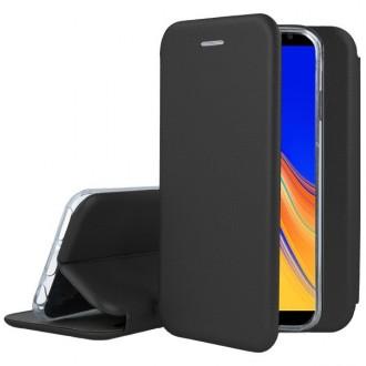 """Juodas atverčiamas dėklas Samsung Galaxy J415 J4 Plus 2018 telefonui """"Book Elegance"""""""