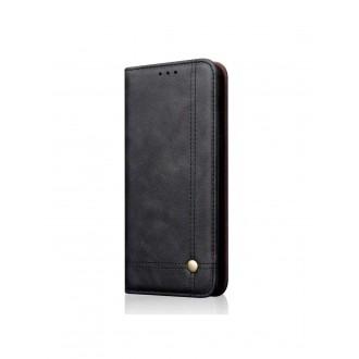 """Juodas atverčiamas dėklas Samsung Galaxy J415 J4 Plus 2018 telefonui """"Prestige Book"""""""