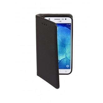 """Juodas atverčiamas dėklas Samsung Galaxy J500 J5 telefonui """"Smart Magnet"""""""