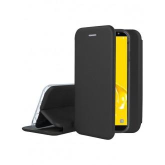 """Juodas atverčiamas dėklas Samsung Galaxy J600 J6 2018 telefonui """"Book Elegance"""""""