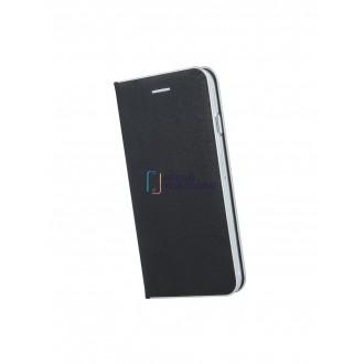 """Juodas atverčiamas dėklas Samsung Galaxy J610 J6 Plus 2018 telefonui """"Smart Venus"""""""