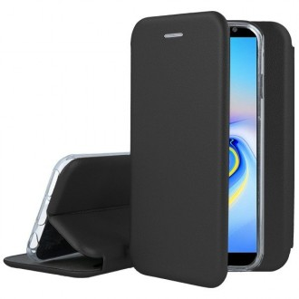 """Juodas atverčiamas dėklas Samsung Galaxy J610 Plus 2018 telefonui """"Book Elegance"""""""