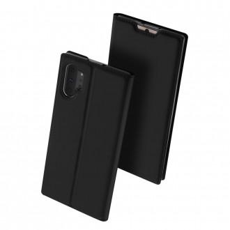 """Juodas atverčiamas dėklas Samsung Galaxy N975 Note 10 Plus telefonui """"Dux Ducis Skin"""""""