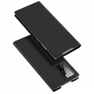 """Juodas atverčiamas dėklas Samsung Galaxy Note 20 Ultra telefonui """"Dux Ducis Skin"""""""