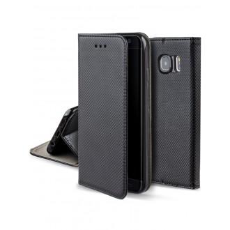 """Juodas atverčiamas dėklas Samsung Galaxy S6 edge telefonui """"Smart Magnet"""""""