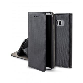 """Juodas atverčiamas dėklas Samsung Galaxy S8 Plus telefonui """"Smart Magnet"""""""