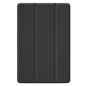 """Juodas atverčiamas dėklas Samsung T720 / T725 Tab S5e """"Smart Leather"""""""