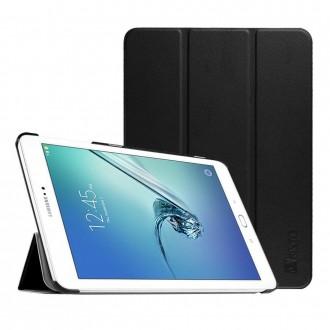 """Juodas atverčiamas dėklas Samsung T810 / T813 / T815/T819  Tab S2 9.7""""  """"Smart Leather"""""""