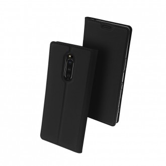 """Juodas atverčiamas dėklas Sony Xperia 1 / XA4 telefonui """"Dux Ducis Skin"""""""