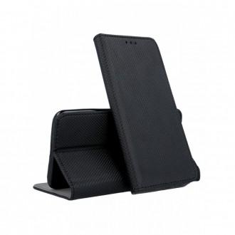 """Juodas atverčiamas dėklas """"Smart Magnet"""" telefonui Xiaomi Redmi Note 8 Pro"""