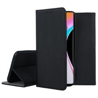 """Juodas atverčiamas dėklas Xiaomi Mi 10 / Mi 10 Pro telefonui """"Smart Book Magnet"""""""