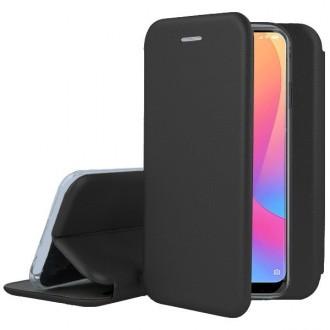 """Juodas atverčiamas dėklas Xiaomi Redmi 8A telefonui """"Book Elegance"""""""